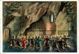 HOMUALK - En Parcourant La Bigorre Hautes-Pyrénées Recorriendo Bigorra Lourdes La Grotte - Texte Au Verso N°19 - B.E - Homualk