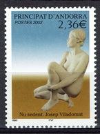 Andorra (French Adm.), Josep Viladomat, Spanish Sculptor, 2002, MNH VF - French Andorra