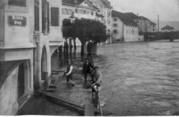 Suisse - Luzern - LU - Karte-Photo, Quai De La Reuss - 1910. Postée à Luzerne Le 20-06-1910. Bon état. - LU Luzern