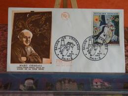 Salon De L'Enfance, Marc Chagall - Paris - 9.11.1963 FDC 1er Jour - Coté 10€ - 1960-1969