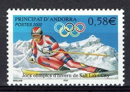 Andorra (French Adm.), Winter Olympics, Salt Lake City (USA), 2002, MNH VF - Andorre Français