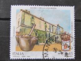 *ITALIA* USATI 2004 - MUSEO LIQUIRIZIA AMARELLI - SASSONE 2751 - LUSSO/FIOR DI STAMPA - 6. 1946-.. Repubblica