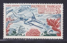 POLYNESIE AERIENS N°   14 ** MNH Neuf Sans Charnière, TB (D8373) Championnat Du Monde De Pêche Sous-marine -1964 - Airmail