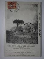 34 Lamalou. Rare Cpa. Locations D'appartements Meublés M. Goudou. Villa Notre Dame Et Villa Saint Joseph (7856) - Lamalou Les Bains