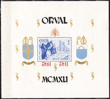 BL22  Grand Bloc Orval - SURCHARGE RENVERSEE - MNG - RRR!!!! - Blokken 1924-1960