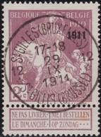 Belgie  .   OBP       .     95        .        O   .       Gebruikt    .   /  .      Oblitéré - 1910-1911 Caritas