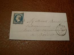 D305/ NAPOLEON N° 14 SUR LETTRE - 1853-1860 Napoléon III