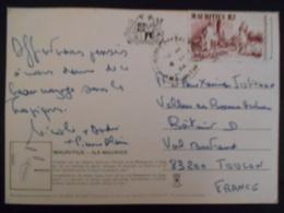 Maurice Carte De Morne Brabant 1984 Pour Toulon - Maurice (1968-...)