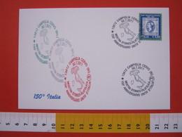 A.06 ITALIA ANNULLO - 2011 CAMPIGLIA CERVO BIELLA 150 ANNI UNITA' ITALIA MAPPA CARTINA MANI FR. TEMA - Storia