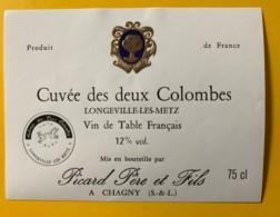 9773 - Cuvée Des Deux Colombes Longeville-Les-Metz - Etiquettes