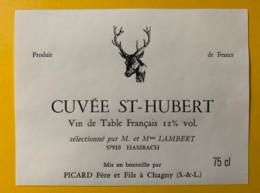 9774 - Cuvée St-Hubert Sélectionné Par Lambert à Hambach Moselle - Etiquettes