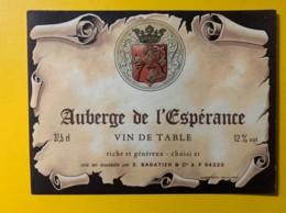 9783 - Auberge De L'Espérance - Etiquettes
