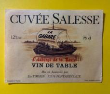 9786 - Cuvée Salesse La Gabare  Auberge De La Route - Etiquettes