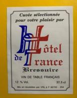 9788 - Cuvée Hôtel De France Bressuire - Etiquettes