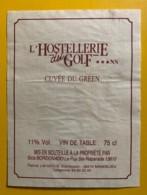 9789 - L'Hostellerie Du Golf Cuvée Du Green - Etiquettes