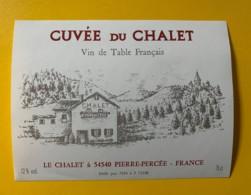 9793 - Cuvée Du Chalet à Pierre-Percée - Etiquettes