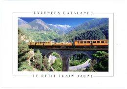Petit Train Jaune Villefranche De Conflent à Enveitg-Latour De Carol. Viaduc Au Ravin Du Cim De La Castagnal à St Thomas - Opere D'Arte