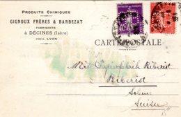Lettre 40 C + 50 C  06/04/28  GB  ( Gignoux Et Barbezat) Pour La Suisse - France