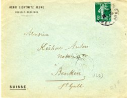Lettre 5c   04/04/13 HL  Henri Lichtwitz Jeune Pour La Suisse - France