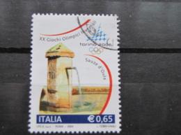 *ITALIA* USATI 2004 - 1^ EMISS TORINO 2006 - SASSONE 2745 - LUSSO/FIOR DI STAMPA - 6. 1946-.. Repubblica