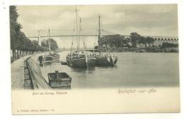 17 ROCHEFORT SUR MER PONT DE TONNAY BATEAUX  EDITEUR VILLETTE CHARENTE MARITIME - Rochefort