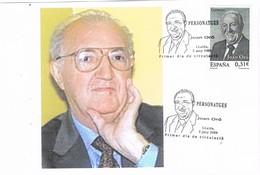 31320. Tarjeta LLEIDA (Lerida) 2008. Personajes JOAN ORÓ, Bioquimica, Quimica - 1931-Aujourd'hui: II. République - ....Juan Carlos I