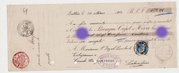 Banque Cajot à HERVE 1912 Vers P. DOZOT LAMBERT Entrepreneur à CEREXHE HEUSEUX - Lettres De Change