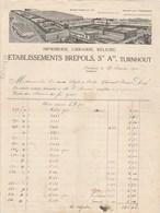 Belgique Facture Illustrée 27/2/1915 Ets BREPOLS Imprimerie Librairie Reliure TURNHOUT - Bélgica