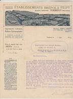 Belgique Facture Lettre Illustrée 1/5/1915 Ets BREPOLS Imprimerie Librairie Reliure TURNHOUT - Belgique