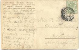 ABERTILLERY R.S.O. MONMOUTHSHIRE RAILWAY POSTMARK ON ROMANCE/RHYME POSTCARD - Postmark Collection