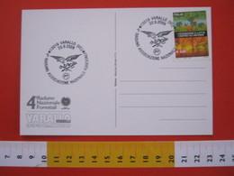 A.06 ITALIA ANNULLO - 2009 VARALLO VERCELLI VALSESIA 4° RADUNO ASSOCIAZIONE NAZIONALE FORESTALI AQUILA CARD UMORISTICA - Protezione Dell'Ambiente & Clima