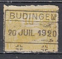 Tr 124 Gestempeld Budingen - Chemins De Fer