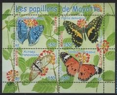MAY 6 - MAYOTTE N° 154/57 Neufs** En Feuillet Papillons - Blokken & Velletjes