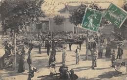 CPA ST RAMBERT D ALBON LE MARCHE AUX PECHES  1910  Belle Animation - Andere Gemeenten