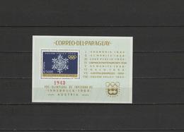 Paraguay 1963 Olympic Wintergames S/s MNH - Winter 1964: Innsbruck