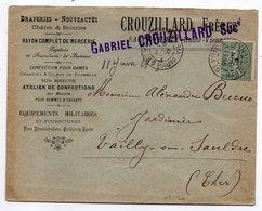 1905--Lettre De St YRIEIX/VIENNE-87  Pour VAILLY /SAULDRE-18--type Semeuse-cachet-env Personnalisée CROUZILLARD - Storia Postale