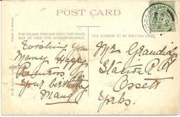 OSSETT R.S.O. YORKS RAILWAY POSTMARK ON CLARE COLLEGE BRIDGE - CAMBRIDGE POSTCARD - Postmark Collection