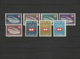 Paraguay 1963 Olympic Games Innsbruck Set Of 8 Imperf. MNH - Winter 1964: Innsbruck