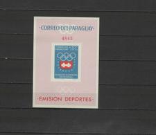 Paraguay 1963 Olympic Games Innsbruck S/s Imperf.  MNH - Winter 1964: Innsbruck