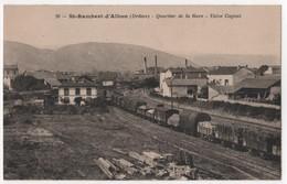 CPA 26 SAINT RAMBERT D'ALBON Train Gare Usine Cognat - Bahnhöfe Mit Zügen