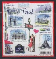 = Entier International Illustration Bloc F4514 Paris L'Arc De Triomphe Notre Dame Opéra Tour Eiffel 4514 4515 4516 4517 - Entiers Postaux