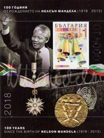 Bulgaria - 2018 - Centenary Since Birth Of Nelson Mandela - Limited Edition Numbered Souvenir Sheet On UV Paper - Unused Stamps