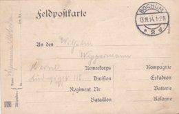 German Feldpost WW1: From A Wehrmann In Dortmund P/m Bochum 13.10.1914  (G99-15) - Militaria