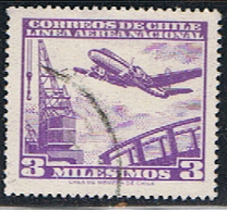 XIL 208 // Y&T 193 AÉRIEN // 1960 - Chili