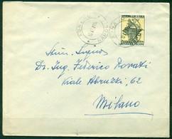 STORIA POSTALE - Z134 ITALIA REPUBBLICA 1952 Lettera Affrancata Con Biennale Venezia ISOLATO,da Agnano10.7.52 Per Milano - 1946-60: Storia Postale