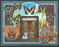 Centrafricaine Rép. Bloc-feuillet YT N°?? Scoutisme Et Papillons Neuf/charnière * - Centrafricaine (République)