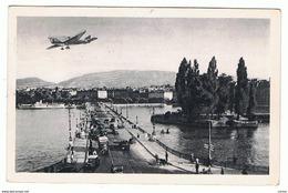 GENEVE:  PONT  DU  MONT-BLANC  ET  ILE  ROUSSEAU  -  PHOTO  -  POUR  L' ITALIE  -  FP - Ponts