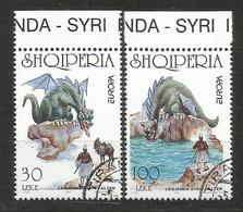 Albanien  1997 Mi.Nr. 2619 / 2620 ,  EUROPA CEPT Sagen Und Legenden - Gestempelt / Used / (o) - Albanien