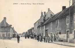 CPA 71 JONCY ENTREE DU BOURG ROUTE DE GENOUILLY - France