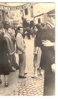 CARTOLINA - FOTO D'EPOCA STRISCIONE DI PARTITO - DEMOCRAZIA CRISTIANA - - Foto Dedicate